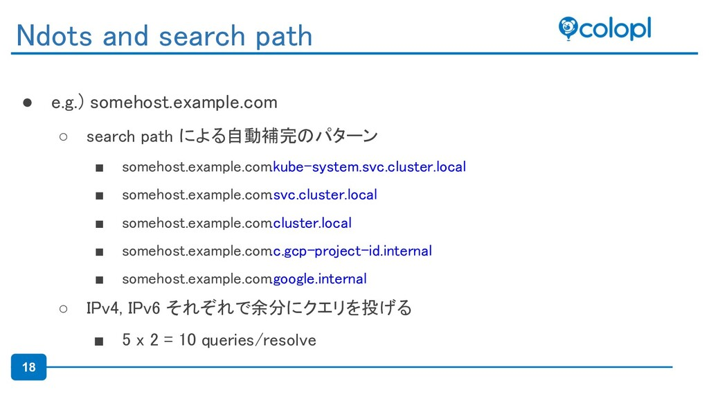 18 ● e.g.) somehost.example.com ○ search path ...