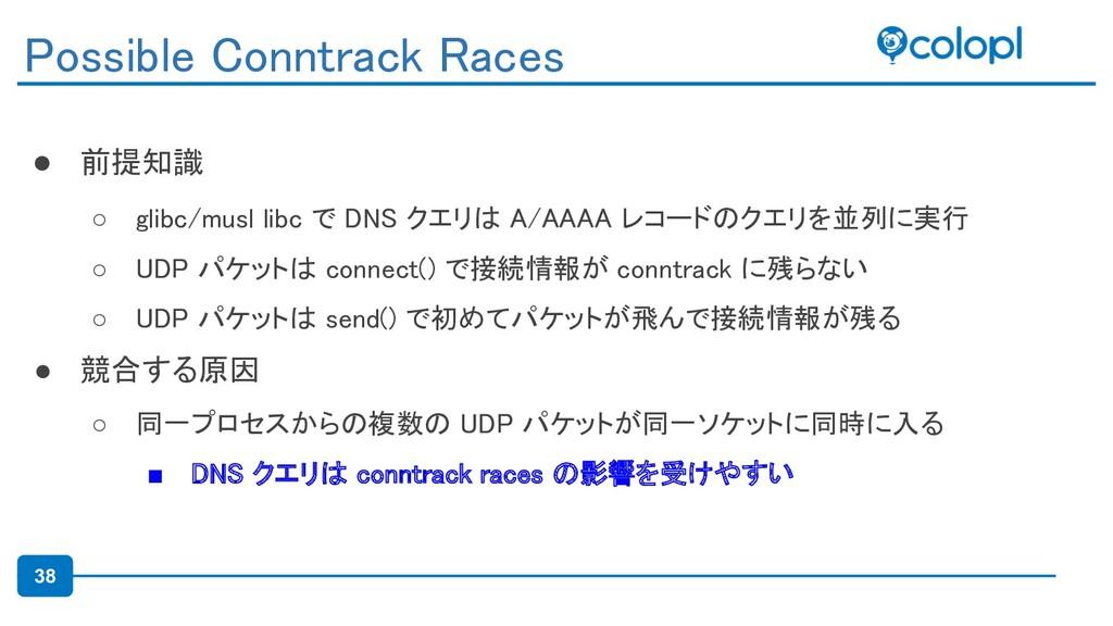 38 ● 前提知識 ○ glibc/musl libc で DNS クエリは A/AAAA ...