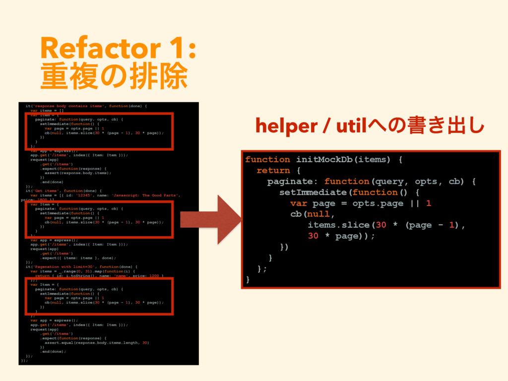Refactor 1:  ॏෳͷഉআ it('response body contains ...
