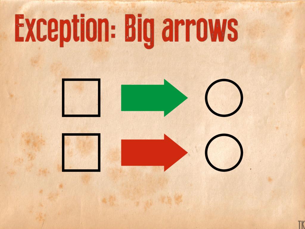 Exception: Big arrows K TK
