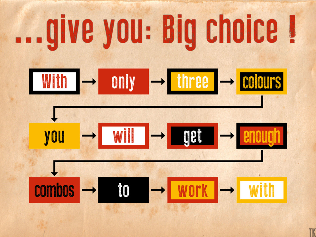 ...give you: Big choice ! With you combos three...