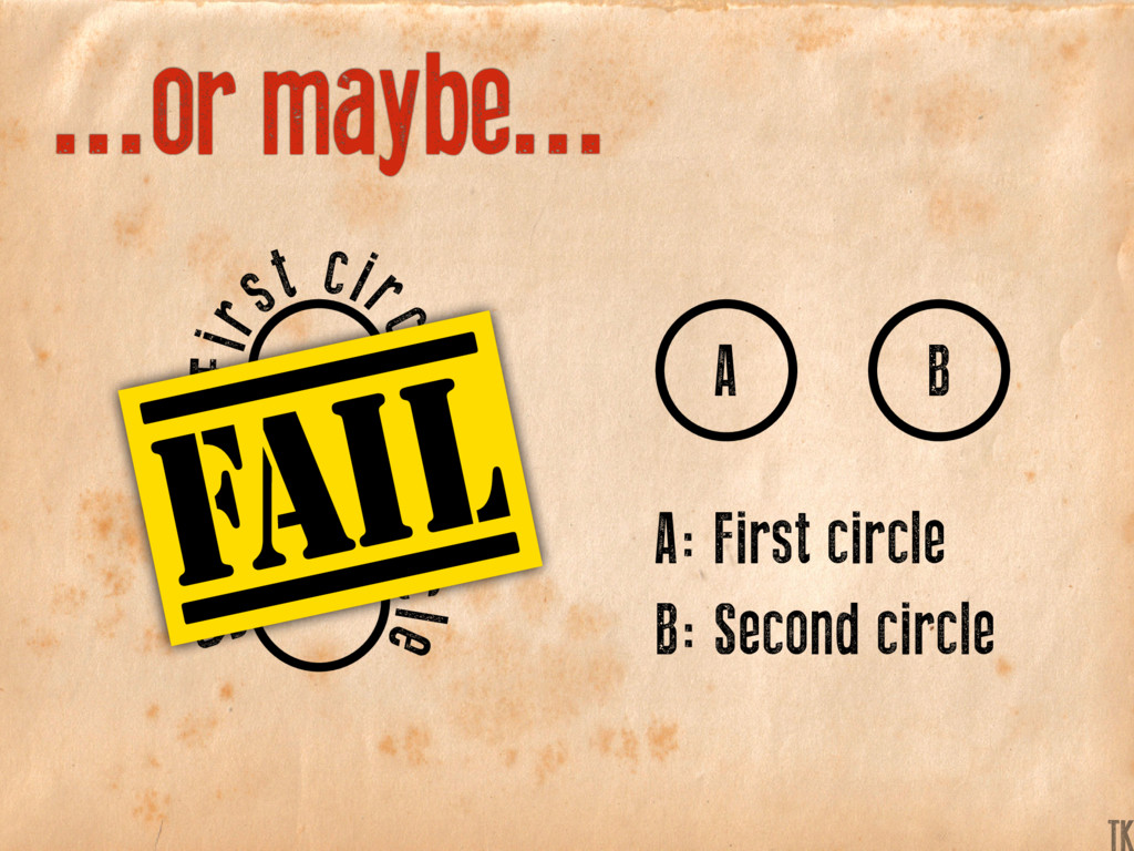 ...or maybe... A: First circle A B B: Second ci...