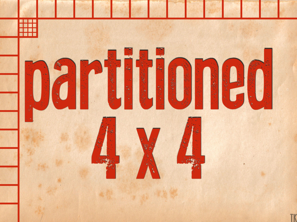 partitioned 4 x 4 TK