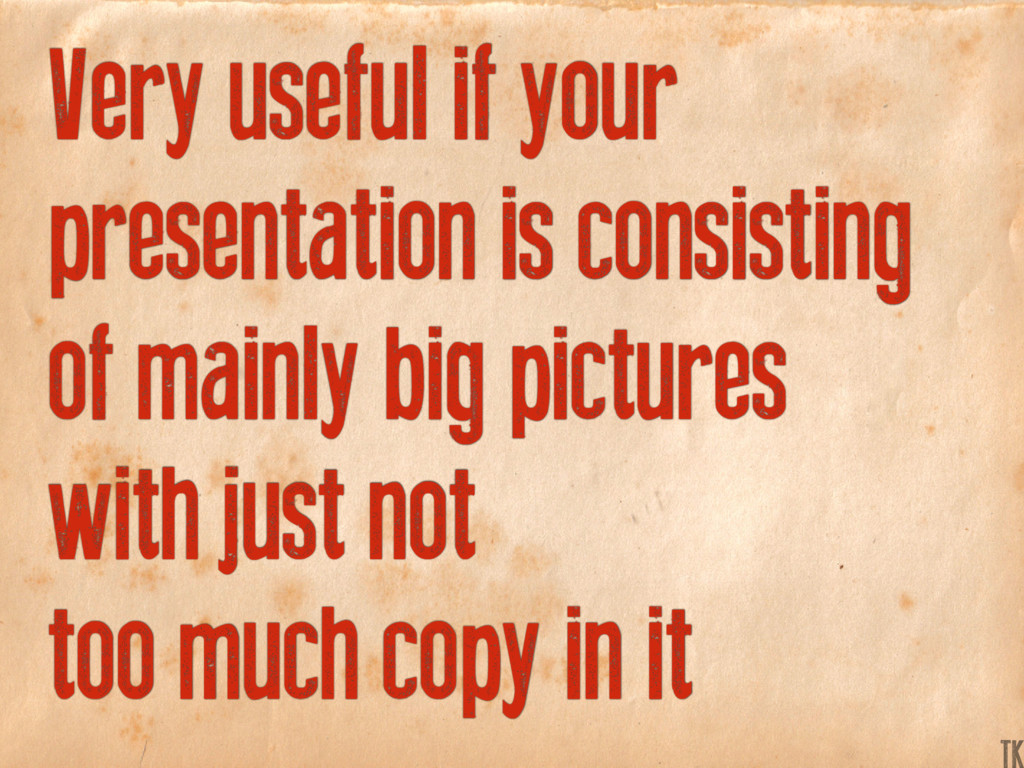 Very useful if your presentation is consisting ...