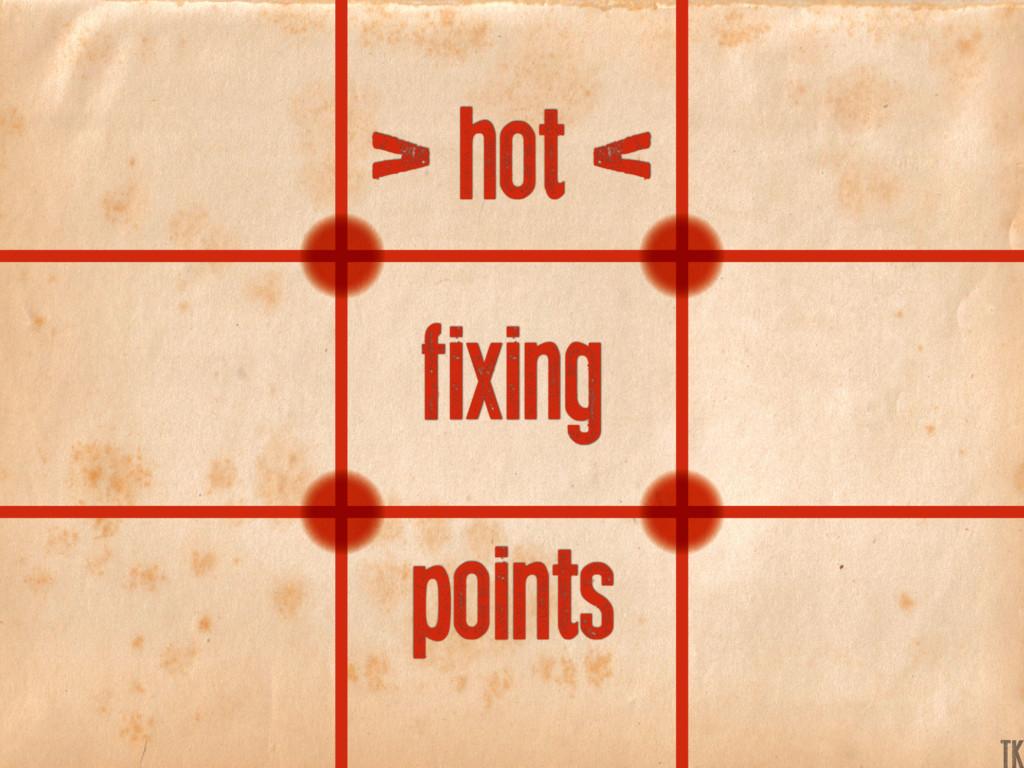 > hot < fixing points K TK
