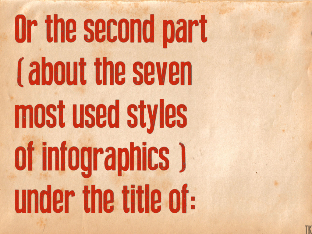 Or the second part (about the seven most used s...