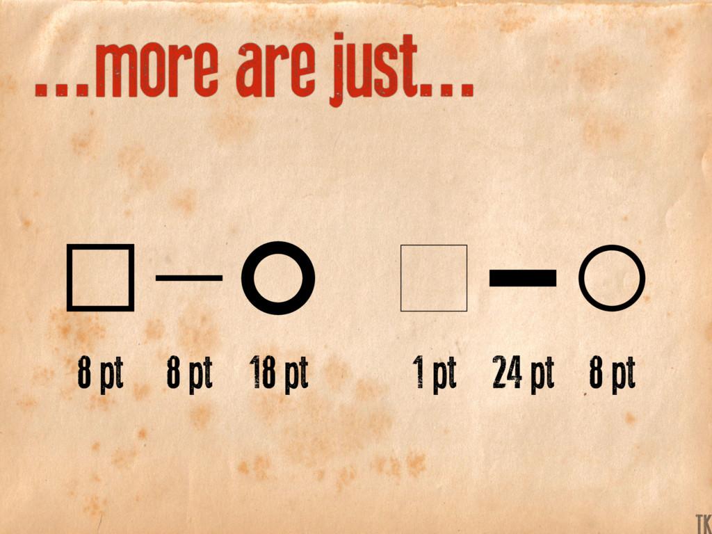 ...more are just... 8 pt 1 pt 8 pt 24 pt 18 pt ...