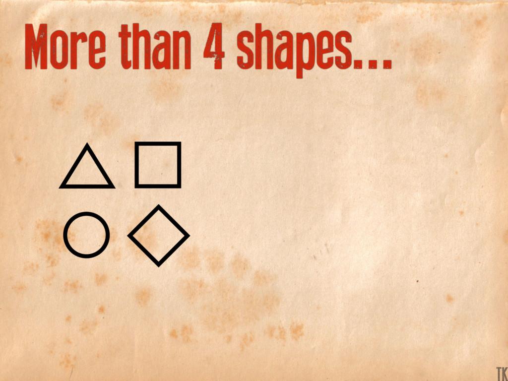 More than 4 shapes... K TK