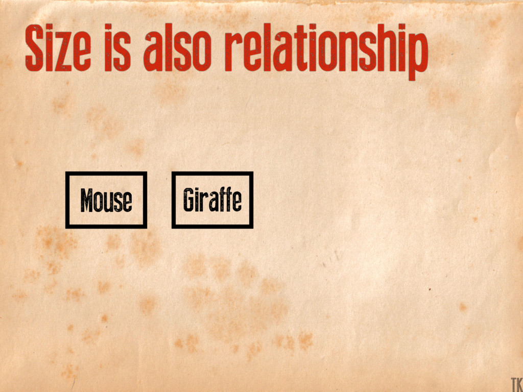 Giraffe Mouse Size is also relationship K TK