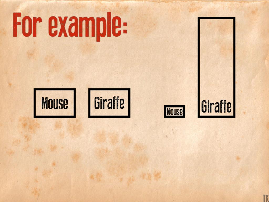 Giraffe Giraffe Mouse Mouse For example: K TK