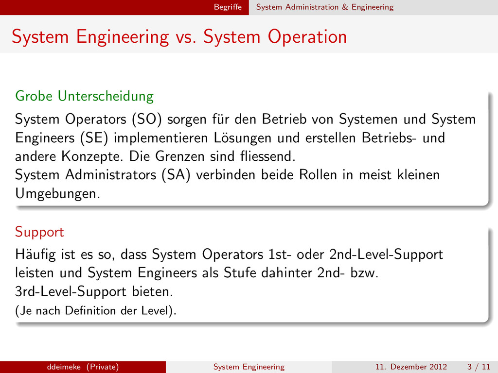 Begriffe System Administration & Engineering Sys...