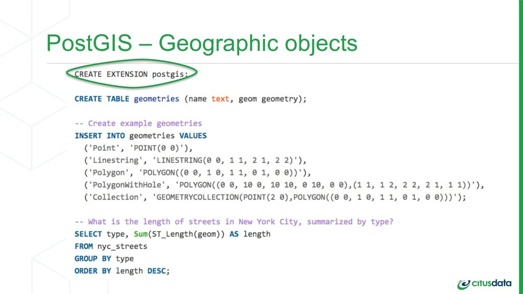 PostGIS – Geographic objects