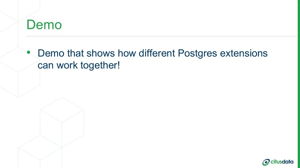 Demo • Demo that shows how different Postgres e...