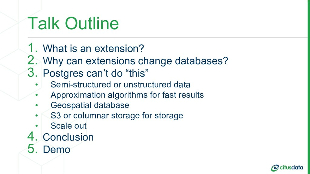Talk Outline 1. What is an extension? 2. Why ca...