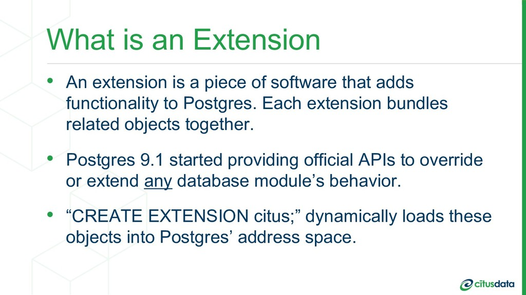 What is an Extension • An extension is a piece ...