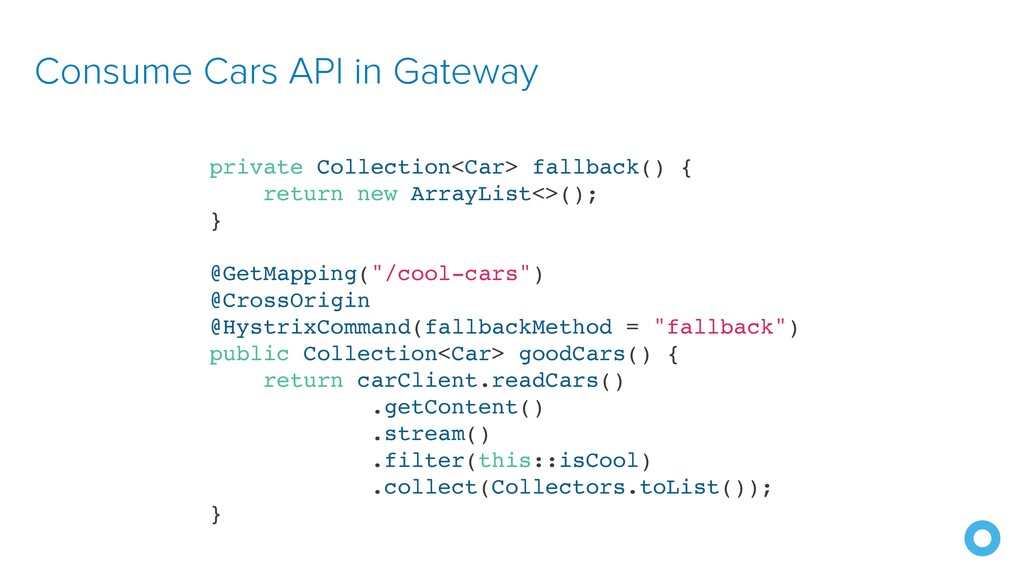 Consume Cars API in Gateway private Collection<...