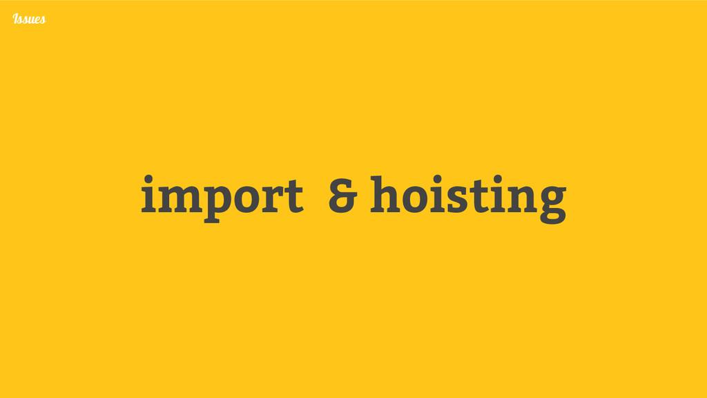 import & hoisting Issues