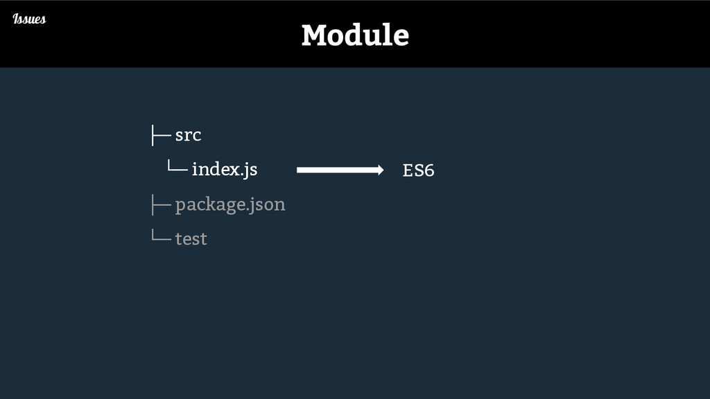Issues Module ├─ src └─ index.js ├─ package.jso...