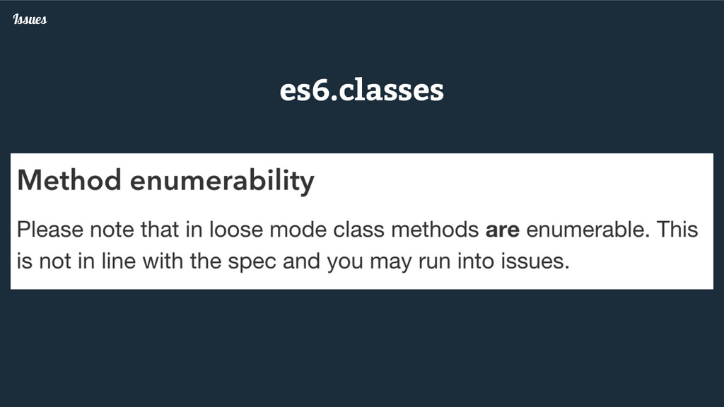 Issues es6.classes