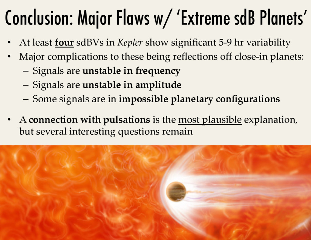 Conclusion: Major Flaws w/ 'Extreme sdB Planets...