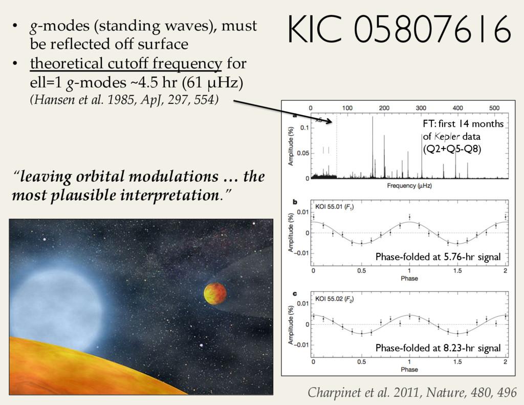 Charpinet*et*al.*2011,*Nature,*480,*4967 KIC 05...