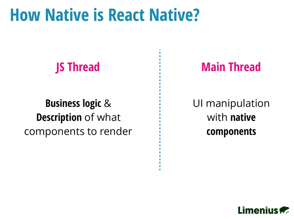 How Native is React Native? JS Thread Main Thre...