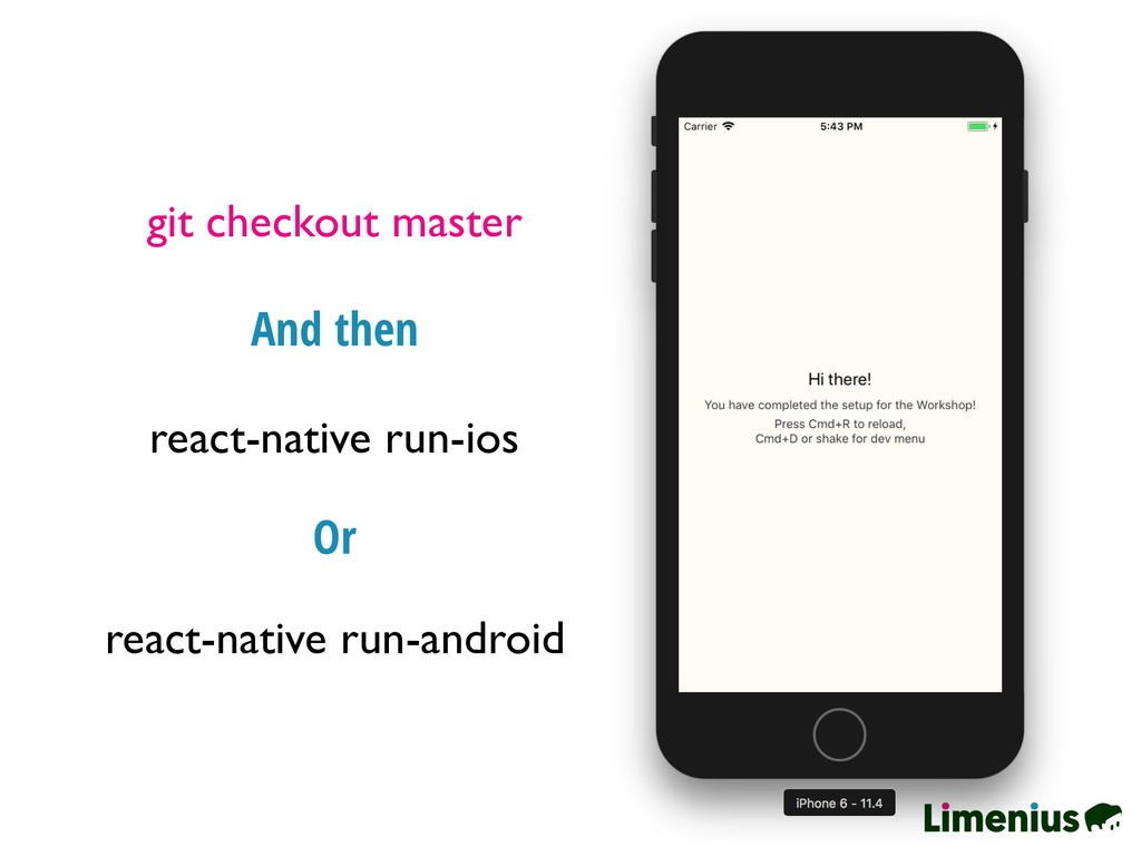 git checkout master react-native run-ios And th...