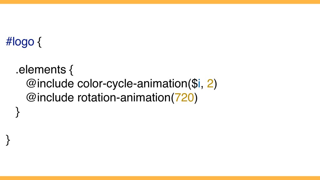 #logo { .elements { @include color-cycle-animat...