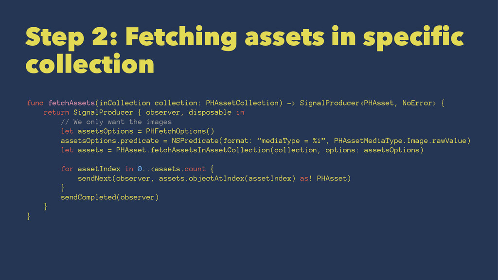 Step 2: Fetching assets in specific collection ...