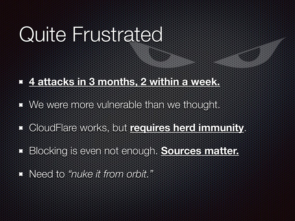Quite Frustrated 4 attacks in 3 months, 2 withi...