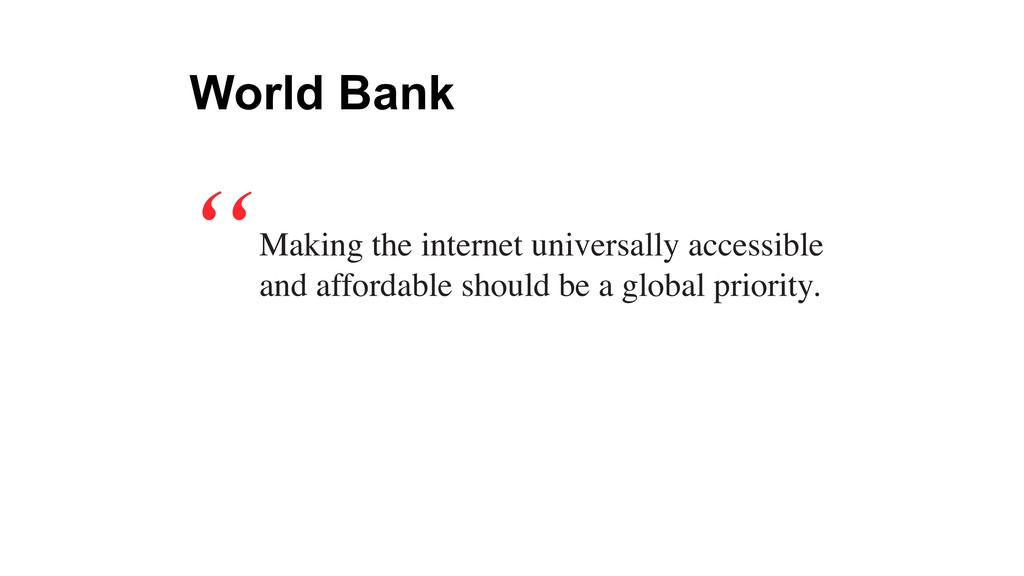 Making the internet universally accessible and ...