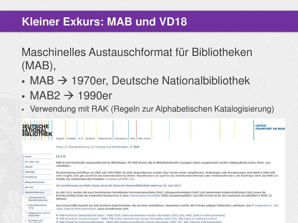 Maschinelles Austauschformat für Bibliotheken (...