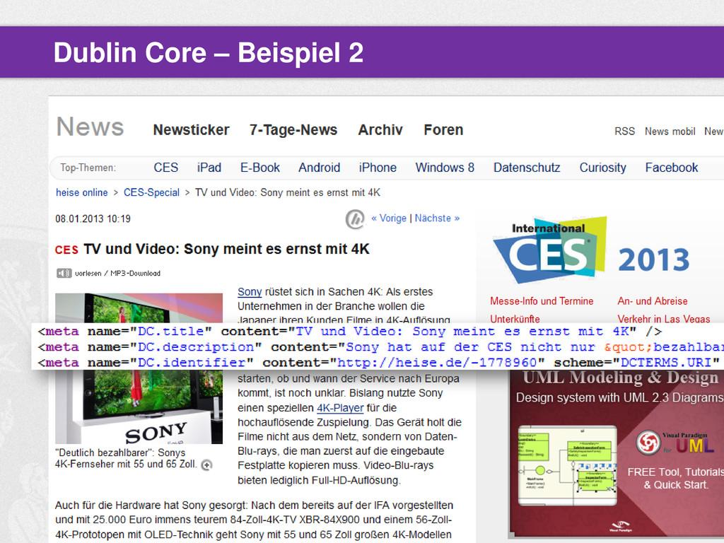 Dublin Core – Beispiel 2