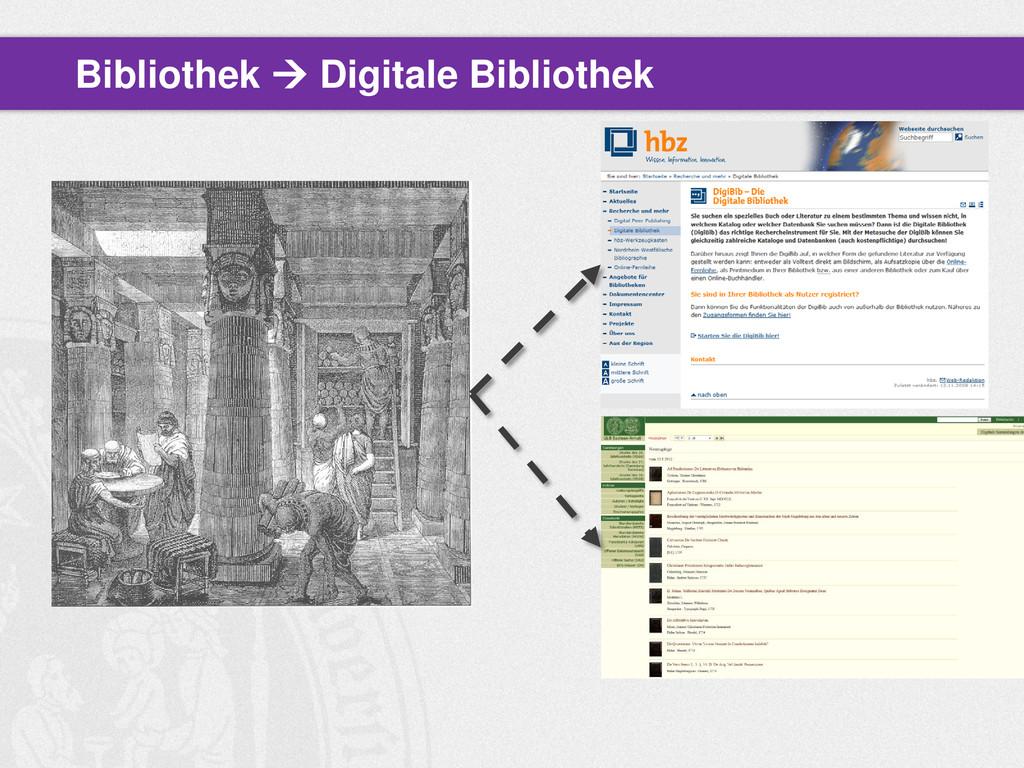 Bibliothek  Digitale Bibliothek
