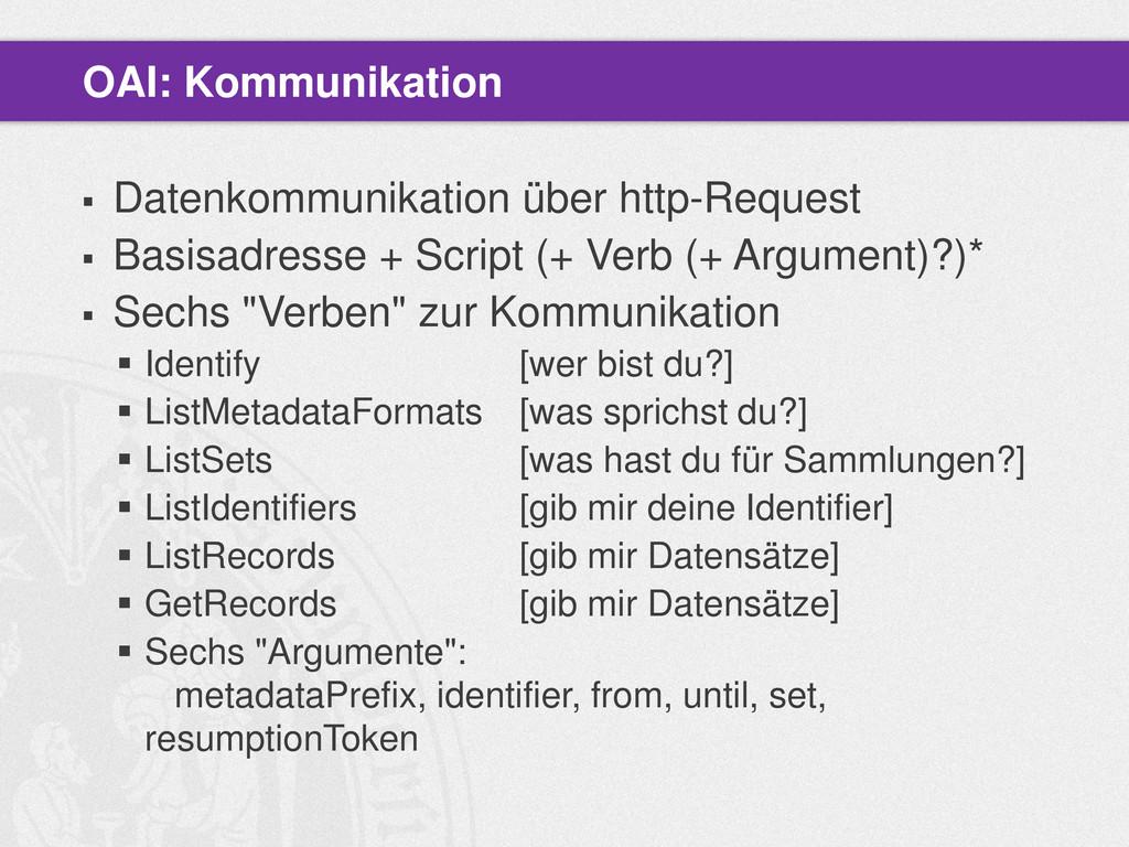  Datenkommunikation über http-Request  Basisa...