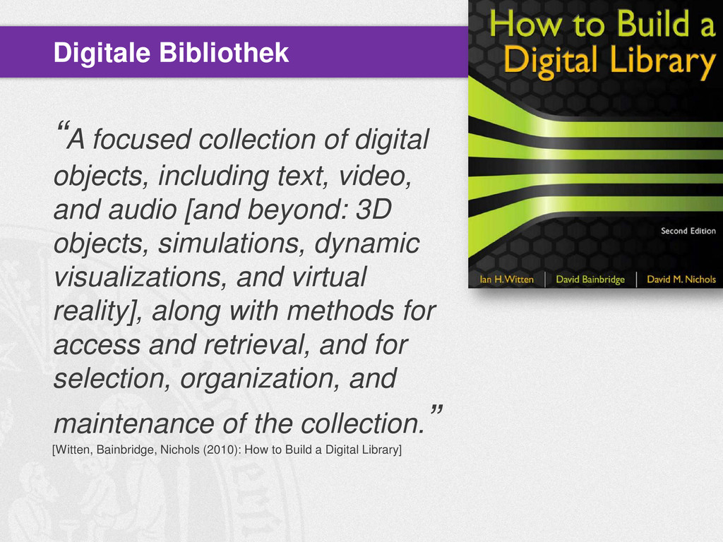 """""""A focused collection of digital objects, inclu..."""
