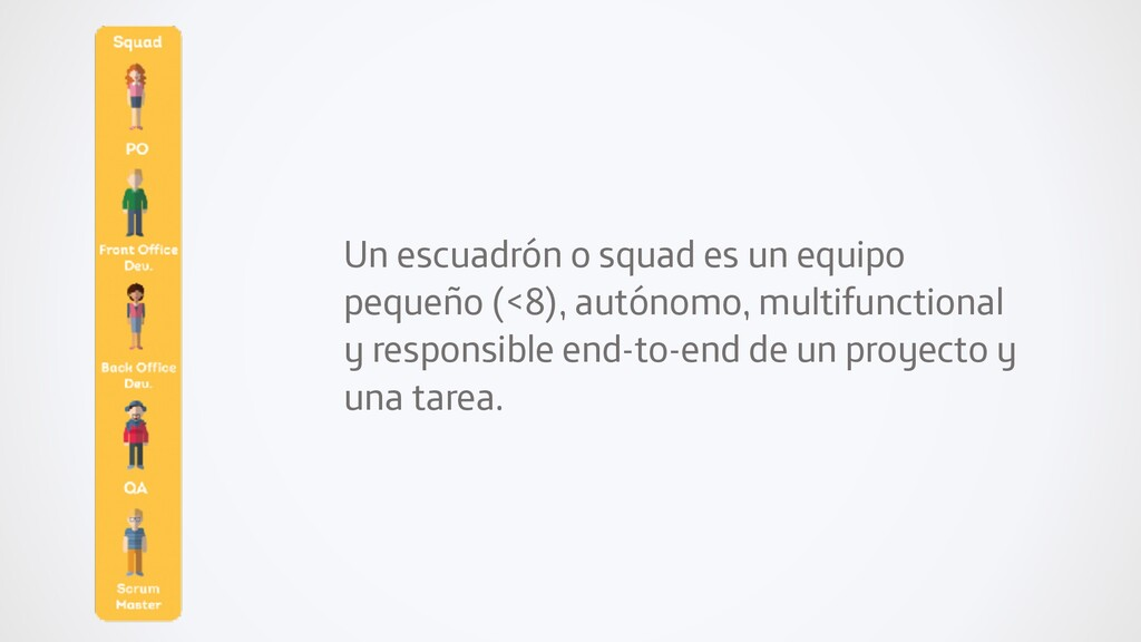 Un escuadrón o squad es un equipo pequeño (<8),...