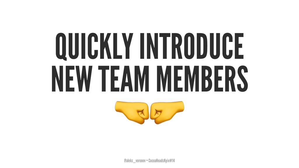 """QUICKLY INTRODUCE NEW TEAM MEMBERS !"""" @aleks_vo..."""