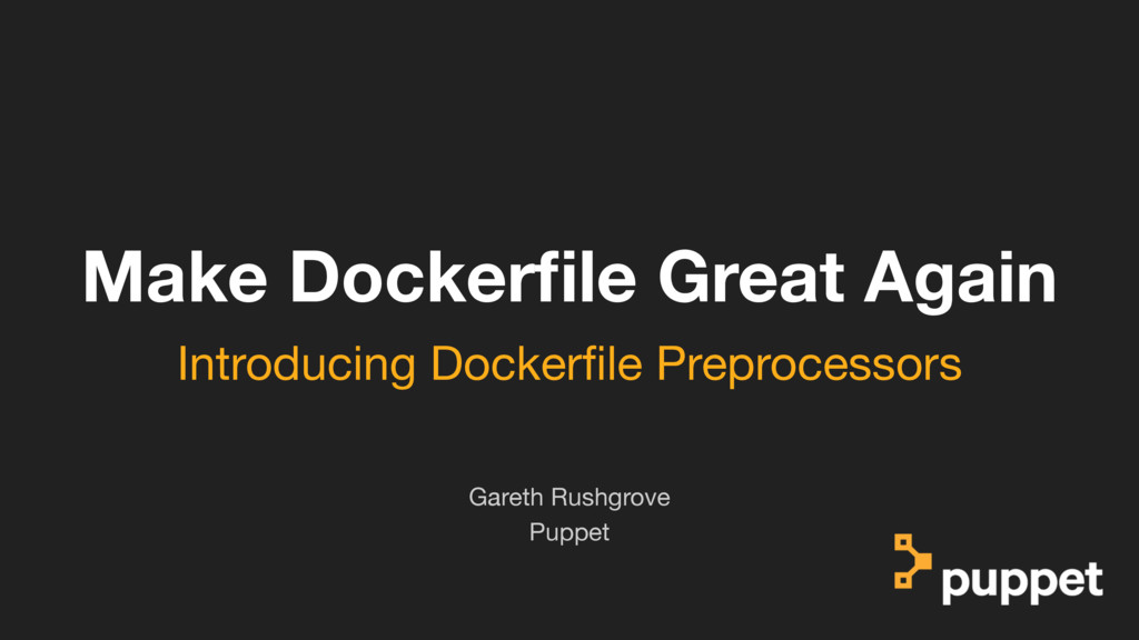 (without introducing more risk) Make Dockerfile ...