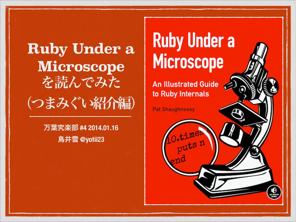 Ruby Under a Microscope  ΛಡΜͰΈͨ ʢͭ·Έ͙͍հฤʣ ສ༿ڀ...