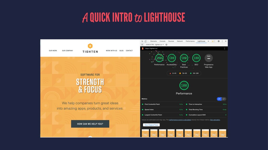A QUICK INTRO to LIGHTHOUSE