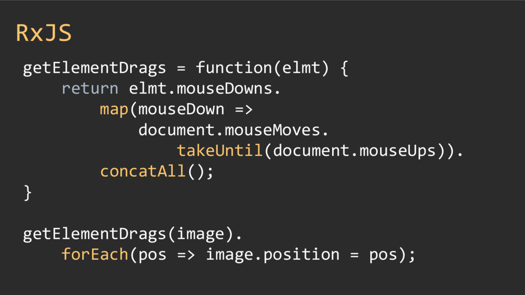 RxJS getElementDrags = function(elmt) { return ...