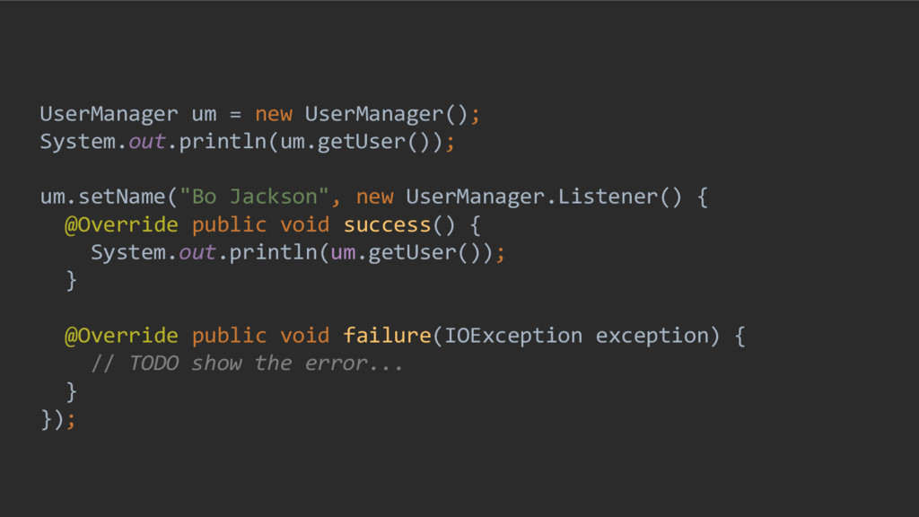 UserManager um = new UserManager(); System.out....