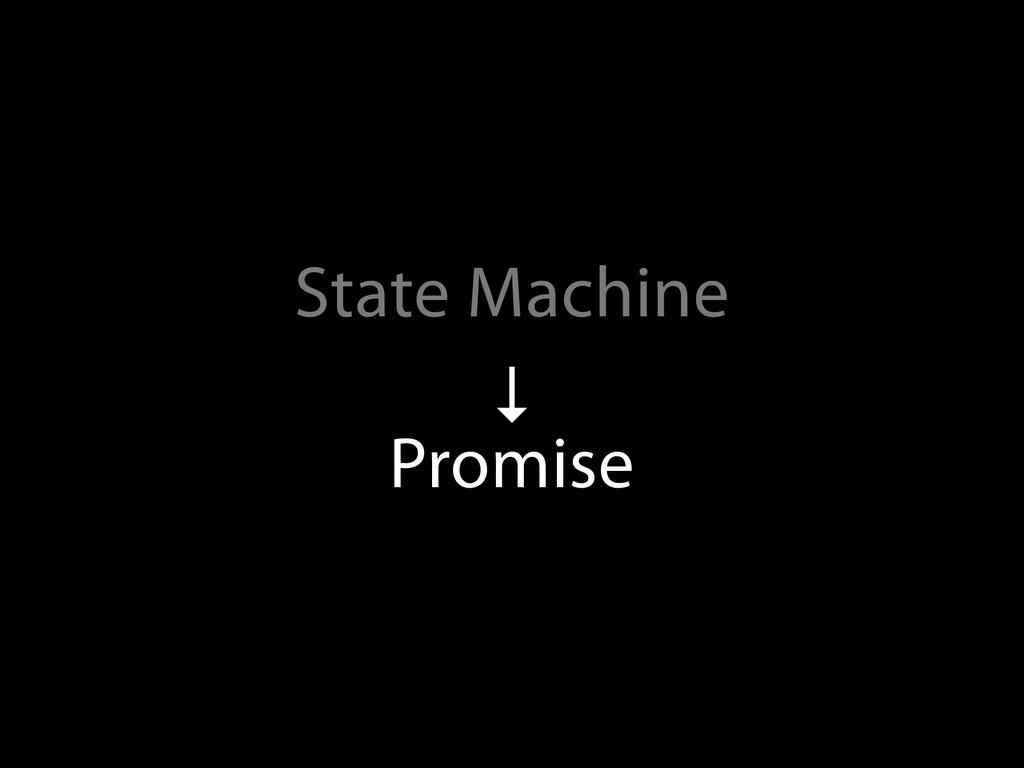 State Machine ↓ Promise