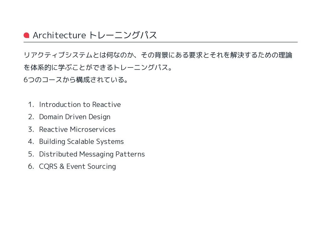 Architecture トレーニングパス リアクティブシステムとは何なのか、その背景にある要...