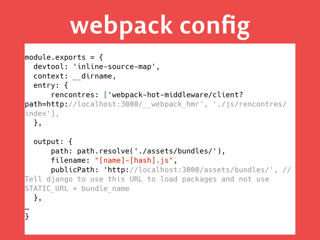 webpack config module.exports = { devtool: 'inli...