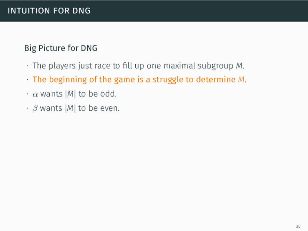 intuition for dng Big Picture for DNG ∙ The pla...