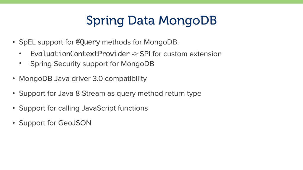 Spring Data MongoDB • SpEL support for @Query m...