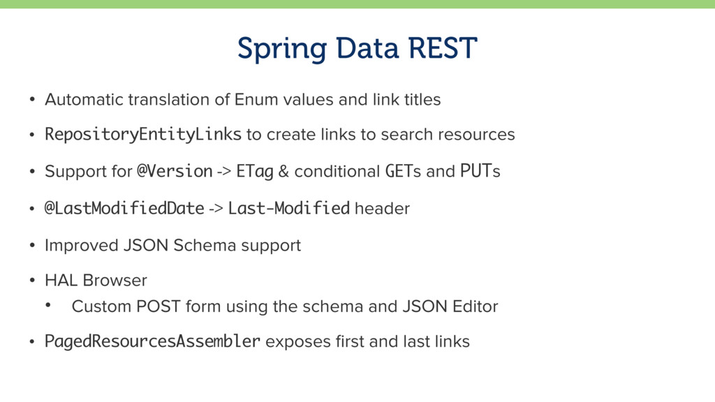 Spring Data REST • Automatic translation of Enu...