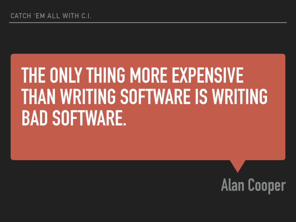 THE ONLY THING MORE EXPENSIVE THAN WRITING SOFT...